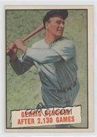 Baseball Thrills: Gehrig Benched After 2,130 Games (Lou Gehrig) [Noted]