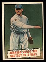 Baseball Thrills: Johnson Hurls 3rd Shutout in 4 Days (Walter Johnson) [NM]