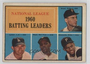 1961 Topps - [Base] #41 - National League 1960 Batting Leaders (Dick Groat, Norm Larker, Willie Mays, Roberto Clemente)
