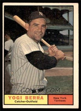 1961 Topps - [Base] #425 - Yogi Berra [VGEX]