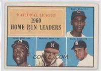 N.L. Home Run Leaders (Ernie Banks, Hank Aaron, Eddie Mathews, Ken Boyer) [Poor…