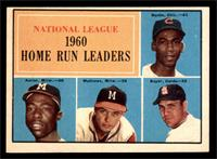 N.L. Home Run Leaders (Ernie Banks, Hank Aaron, Eddie Mathews, Ken Boyer) [EX]