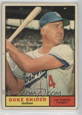 1961 Topps - [Base] #443 - Duke Snider