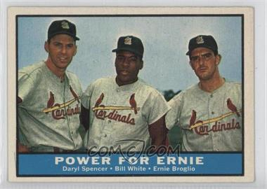 1961 Topps - [Base] #451 - Daryl Spencer, Bill White, Ernie Broglio