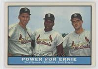 Daryl Spencer, Bill White, Ernie Broglio