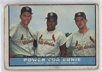 Daryl Spencer, Bill White, Ernie Broglio [Poor]