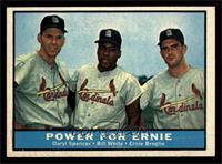 Daryl Spencer, Bill White, Ernie Broglio [NM]