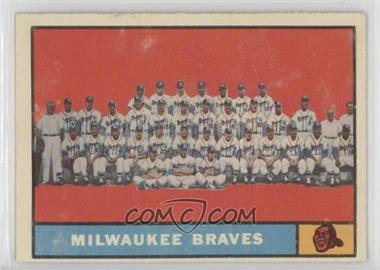 1961 Topps - [Base] #463.1 - Milwaukee Braves Team