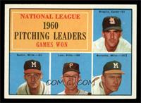 National League Pitching Leaders (Ernie Broglio, Warren Spahn, Vern Law, Lou Bu…