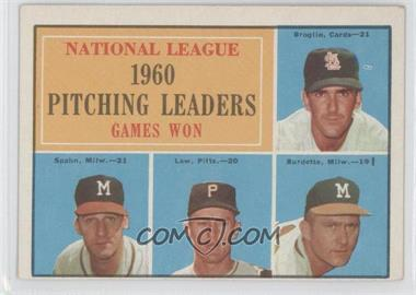 1961 Topps - [Base] #47 - National League Pitching Leaders (Ernie Broglio, Warren Spahn, Vern Law, Lou Burdette)