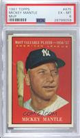 American League Most Valuable Player (Mickey Mantle) [PSA 6 EX‑…