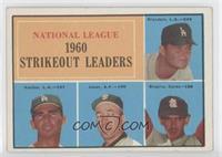 National League 1960 Strikeout Leaders (Don Drysdale, Sandy Koufax, Sam Jones, …