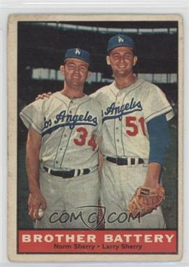 1961 Topps - [Base] #521 - Norm Sherry, Larry Sherry [Good to VG‑EX]