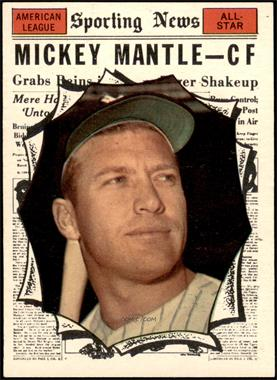 1961 Topps - [Base] #578 - Mickey Mantle [EXMT]