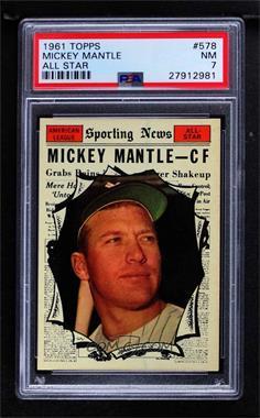 1961 Topps - [Base] #578 - Mickey Mantle [PSA7NM]