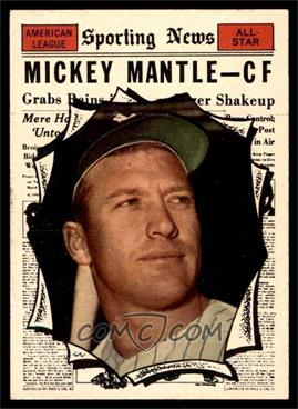1961 Topps - [Base] #578 - Mickey Mantle [EX]