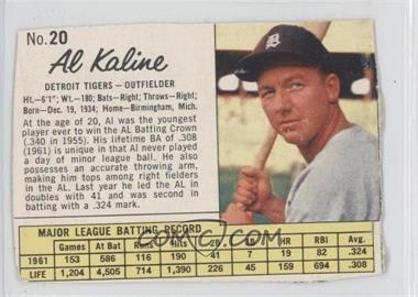 1962 Jell-O - [Base] #20 - Al Kaline