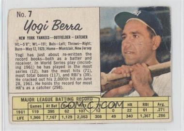1962 Jell-O - [Base] #7 - Yogi Berra