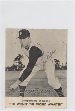 1962 Kahn's - [Base] #N/A - Joe Gibbon