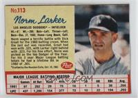 Norm Larker [Poor to Fair]