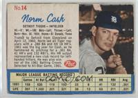 Norm Cash (Throws Left) [Good to VG‑EX]