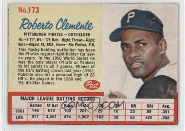 1962 Post - [Base] #173 - Roberto Clemente