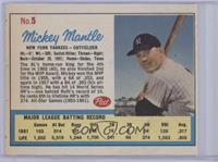 Mickey Mantle (Post logo on back) [Poor to Fair]