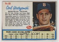 Carl Yastrzemski [Noted]