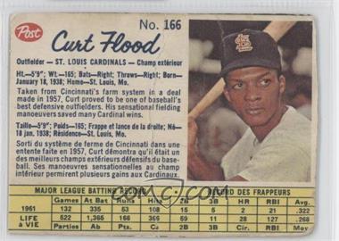 1962 Post Canadian - [Base] #166 - Curt Flood