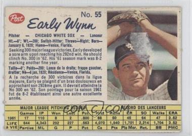 1962 Post Canadian - [Base] #55 - Early Wynn