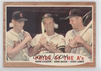 Pride of the A's (Norm Siebern, Hank Bauer, Jerry Lumpe) (Green Tint)