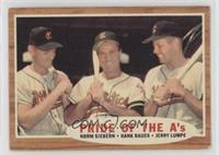 Pride of the A's (Norm Siebern, Hank Bauer, Jerry Lumpe) (Green Tint) [Good&nbs…