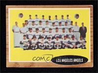 Los Angeles Angels Team (Green Tint; Has Inset Photos) [GoodtoVG…