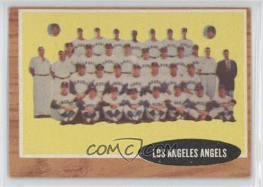 1962 Topps - [Base] #132.2 - Los Angeles Angels Team (Green Tint; Has Inset Photos)