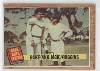 Babe and Mgr. Huggins (Babe Ruth, Miller Huggins) (Green Tint)