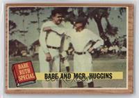 Babe and Mgr. Huggins (Babe Ruth, Miller Huggins) (Green Tint)