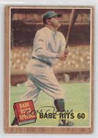 Babe Hits 60 (Babe Ruth) (Green Tint) [GoodtoVG‑EX]