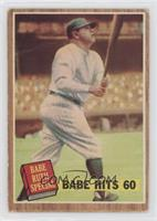 Babe Hits 60 (Babe Ruth) (Green Tint) [Good to VG‑EX]