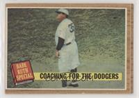 Coaching for the Dodgers (Babe Ruth) (Green Tint) [Good to VG‑E…