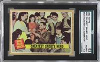 Greatest Sports Hero (Babe Ruth) (Green Tint) [SGC 82 EX/MT+ 6.5]