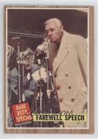 Farewell Speech (Babe Ruth) (Green Tint)