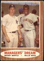 Willie Mays, Mickey Mantle (Elston Howard; Ernie Banks and Hank Aaron in the ba…