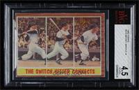 The Switch Hitter Connects (Mickey Mantle) [BVG 4.5 VG‑EX+]