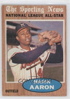 1962 Topps - [Base] #394 - Hank Aaron (All-Star)