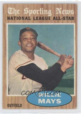 1962 Topps - [Base] #395 - Willie Mays (All-Star)