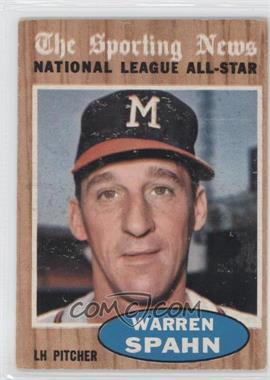 1962 Topps - [Base] #399 - Warren Spahn (All-Star)