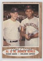 AL & NL Homer Kings (Roger Maris, Orlando Cepeda)