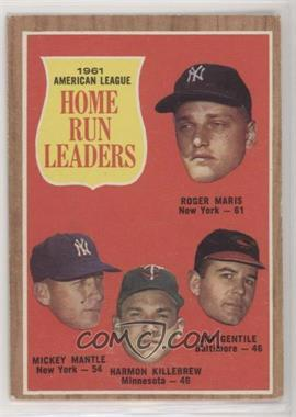 1962 Topps - [Base] #53 - 1961 American League Home Run Leaders (Roger Maris, Mickey Mantle, Harmon Killebrew, Jim Gentile) [Good to VG‑EX]