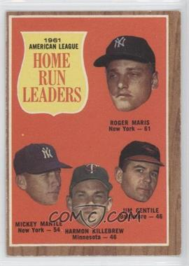 1962 Topps - [Base] #53 - 1961 American League Home Run Leaders (Roger Maris, Mickey Mantle, Harmon Killebrew, Jim Gentile)