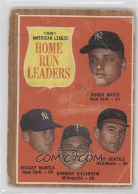 1962 Topps - [Base] #53 - 1961 American League Home Run Leaders (Roger Maris, Mickey Mantle, Harmon Killebrew, Jim Gentile) [Poor]